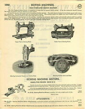 1929 PAPER AD 6 PG New England Queen Rotary Sewing Machine Electric Parts Repair