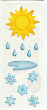 Creative Memories Stickers - Weather - Sun, Raindrops & Snowflakes Item #46