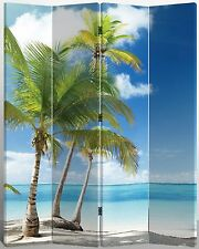Virgin Islands Beach Canvas Room Screen Dividers double - sided design