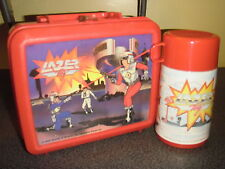 "1986 Vintage COMPLETE! ""Lazor Tag"" Plastic Lunchbox W/Thermos Kit (Aladdin)"