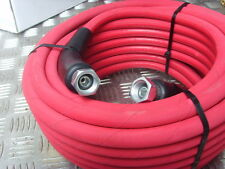 "15 12m METRE JET WASH PRESSURE WASHER POWER HOSE 2 WIRE 3/8"" BSP FEMALE ENDS"