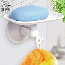 extra strong suction Soap Dish Tray Hanging Towel Hook Holder Wall Mount