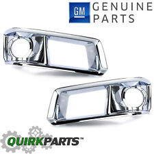 OEM NEW Front Bumper Fog Light Lamp Bezel CHROME Right & Left Set 2008-2014 CTS