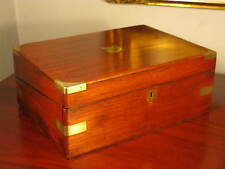 Vintage Antique Victorian Mahogany Wood Writing Slope Lap Desk Cabinet Box C1895
