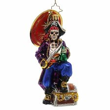RADKO Boney Buccaneer Pirate Skeleton Halloween Made in Poland New