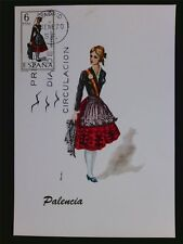 SPAIN MK 1970 COSTUMES PALENCIA TRACHTEN MAXIMUMKARTE MAXIMUM CARD MC CM c6035