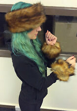 Ladies Accessories Faux Fur Headband Cuffs Fox Faux Fur Winter Cosy Fashion
