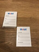 MOBIL Oil Change Service Reminder Labels STICKERS Set of 50