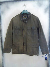 VERY RARE BARBOUR TROOPER WAXED COTTON JACKET SIZE M