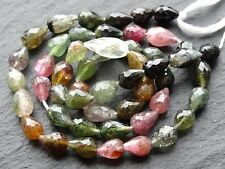 "CUT TOURMALINE CENTRE DRILLED BRIOLETTES, 5x8mm, 15"" strand, 40 beads"