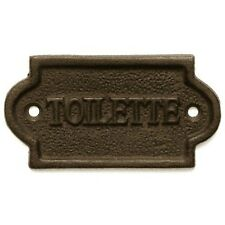 Toilette Bathroom Door Wall Sign Plaque French Paris Inspired Design Cast Iron