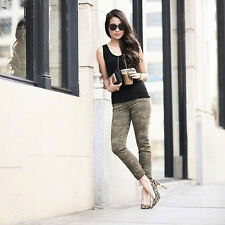 New $228 J BRAND 8227 OLIVE DRAB CAMO PRINT PHOTO READY CROP SKINNY JEANS 27 28