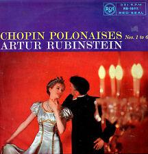 CHOPIN Polonaises Nos. 1 - 6 * Artur Rubinstein * 1958 * RCA * RB-16111 * LP