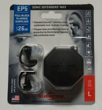 SureFire Ear Plugs Sonic Defenders MAX - LARGE Size With Case Black EP5-BK-LPR