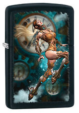 Zippo Black Matte Girl Steam Punk Windproof Lighter 28670 New