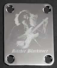 GUITAR NECK PLATE Custom Engraved Etched - Fits Fender - RITCHIE BLACKMORE