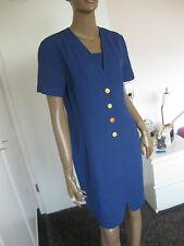 Olsen - tolles Kleid   Gr. 38 blau mit Leinen