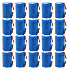 20x NiCd 4/5 Sub C 1.2V 2200mAh Rechargeable Battery 34mm Height For Power Tools