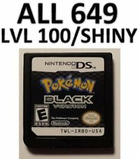 Pokemon Black + White DS DSi XL All 649 Game Unlocked