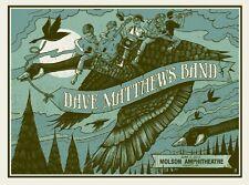 Dave Matthews Band Poster 2012 Molson Amphitheater Toronto Ontario #/600 Rare