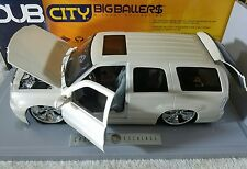 New DUB city Big Ballers Cadillac Escalade Pearl White 1:18 scale