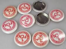 10 Stück alte 1. FC NÜRNBERG Blech Ansteck Buttons aus 1980