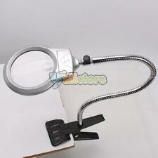 LIGHTED TABLE TOP DESK MAGNIFIER MAGNIFYING GLASS WITH CLAMP Repair Loupe