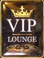 VIP LOUNGE ! 20X15 CM FUNNY RETRO-STYLE WALL SIGN.FREE UK POSTAGE.