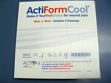 ActiForm Cool dressings 10cm x 10cm, pack of 5, for wound pain,burns & scalds