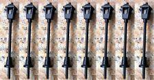 Pack of 8 Black Street Lights Adjustable Height 6 / 12v N Gauge SMS004