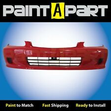 1999 2000 Honda Civic Coupe Front Bumper Painted R81 Milano Red