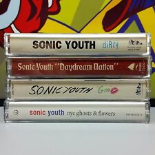 Sonic Youth lot of 4 Alternative Cassette Tapes ~ dirty, daydream, goo, nyc 13z