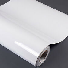 "24""x100"" Glossy White Vinyl Car Wrap Sheet Roll Film Sticker Decal"