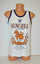Singha Beer Singlet Vest Top White size Medium **UK STOCK** New