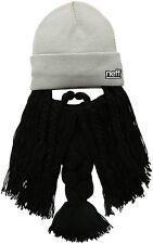 Fun Neff Men's Bunyan Beanie Grey & Black Beard Skate Streetwear Cold Winter