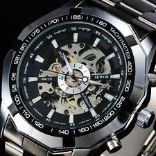 Men Fashion Watches Skeleton Automatic Mechanical Military Relogio Masculino A2