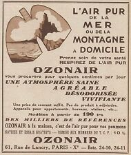 Z9668 OZONAIR l'air pur de la montagne -  Pubblicità d'epoca - 1934 Old advert