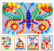 Hot Children Puzzle Peg Board With 296 Pegs For Kids Early Educational Toys
