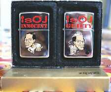 Sehr Selten Zippo OJ Simson Innocent / Guilty Set Ltd. 50 MIB RAR !