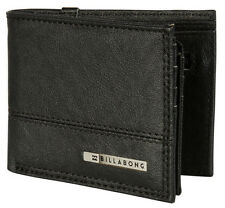 "BRAND NEW + TAG BILLABONG MENS / BOYS TRI-FOLD SURF WALLET ""DIMENSION"" BLACK"