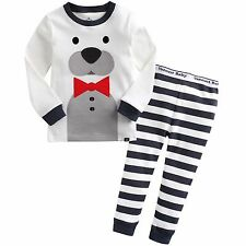 "Vaenait Baby Toddler Kids Boys Clothes Sleepwear Pajama ""Tie Bear"" XL(6-7T)"