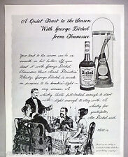 George Dickel Tennessee Sour Mash Whiskey PRINT AD - 1965