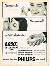PUBLICITE ADVERTISING  1957   PHILIPS   rasoir