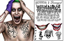 Le joker tatouages temporaires suicide squad costume halloween batman