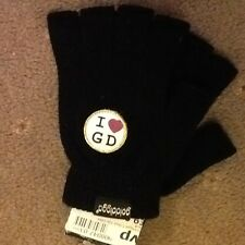 NEW TAGGED GOLDDIGGA black FINGERLESS GLOVE I love GD
