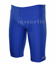 Boys Male Competition Racing Fast Skin Swimwear Jammer Trunk Size 26 / S Blue