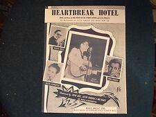 ELVIS PRESLEY - Heartbreak Hotel   Repro Sheet Music