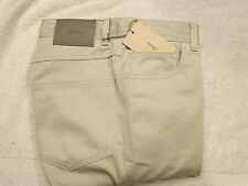 Brioni Stretch Cotton Blend 5 Pocket Pants NWT $695 30 x 34 Made in Italy Stone