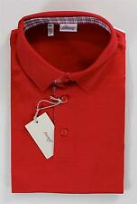 $650 NWT Brioni Men's Summer Polo Shirt Solid Red 100% Cotton 2XL Tailored Fit