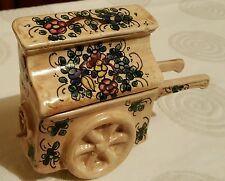 Vintage Gualdo Tadino Italia Amoladoras órgano de barril Joyas-caja de la baratija